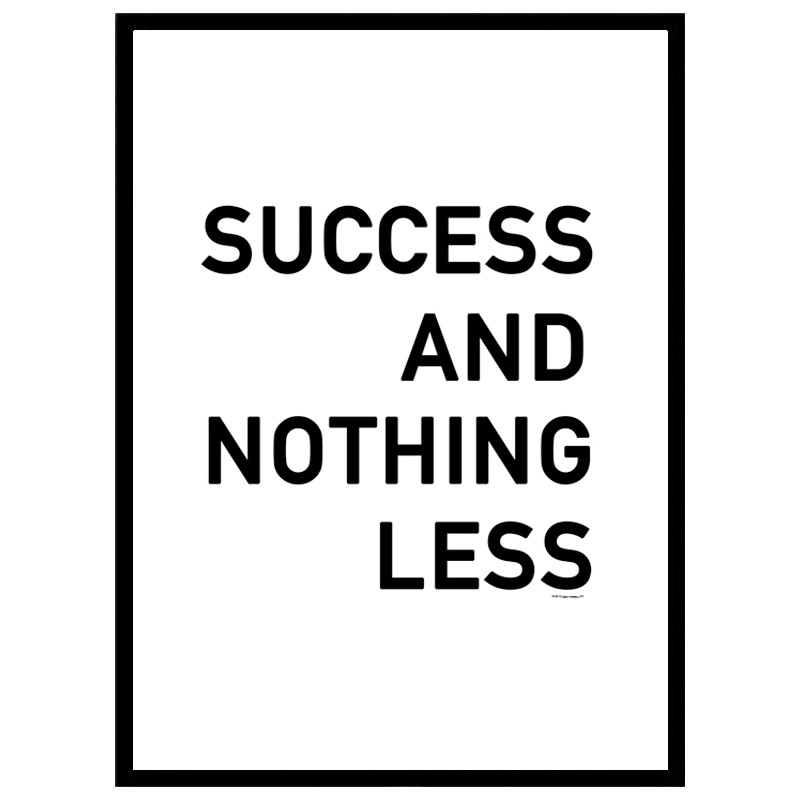 Success Poster. Find your posters at Wallstars Online