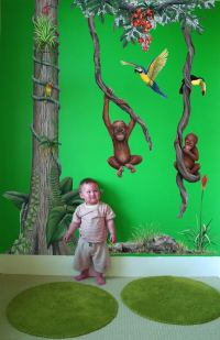 Rainforest Jungle Mural Decal Package