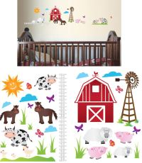 Art Applique Farm Animals Wall Stickers