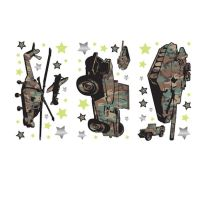 Camo 2 Peel and Stick Wall Sticker Appliques - Kids Wall ...