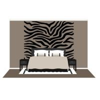 Large Zebra Stripes Wall Mural Paint By Number