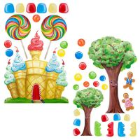Candyland Set Peel and Stick Wall Decals