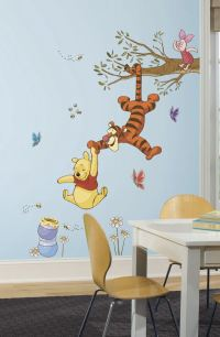 Winnie the Pooh Swinging for Honey Wall Decals
