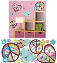 Hearts and Peace Signs Giant Wall Decals - Kids Wall Decor ...