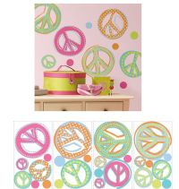 peace sign wall decals 2017 - Grasscloth Wallpaper