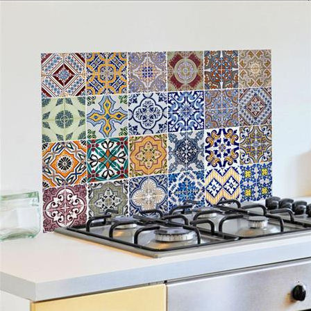 Wall Pops Azulejos Kitchen Panel Wall Tiles