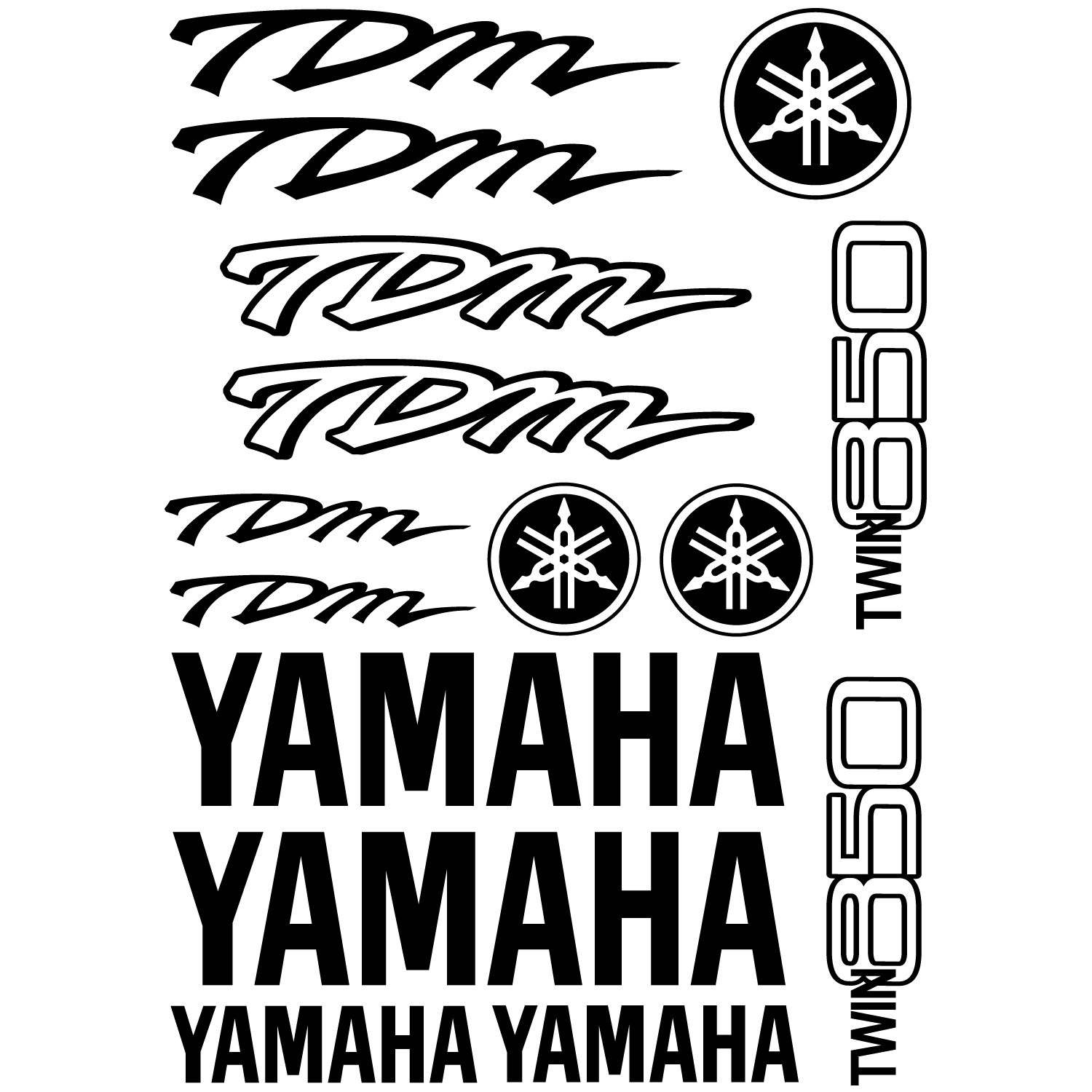 Wallstickers folies : Yamaha TDM Twin 850 Decal Stickers kit