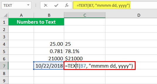 Преобразовать в число (Иллюстрация текстовой функции - 1-10)
