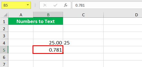 Преобразовать в число (Иллюстрация текстовой функции - 1-2)