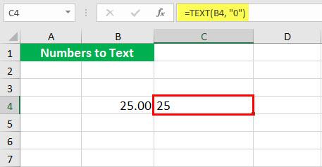 Преобразовать в число (Иллюстрация текстовой функции - 1-3)