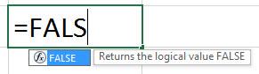 ЛОЖЬ Формула в Excel