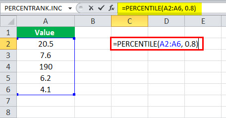 PERCENTILE in Excel (Formula. Examples)   How to Use This Function?