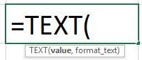 ТЕКСТ Формула в Excel