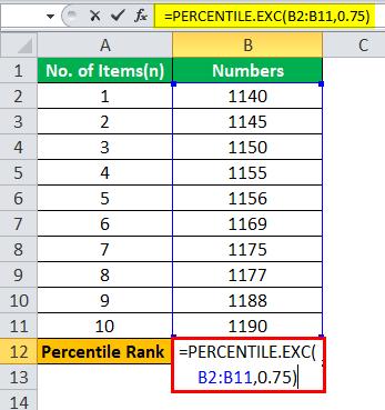 Percentile Rank Formula   Calculate Percentile Rank in Excel   Examples