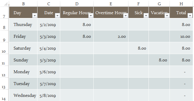 Заморозить ячейки в Excel, пример 1