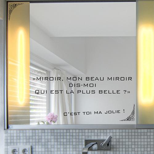 sticker citation disney miroir miroir