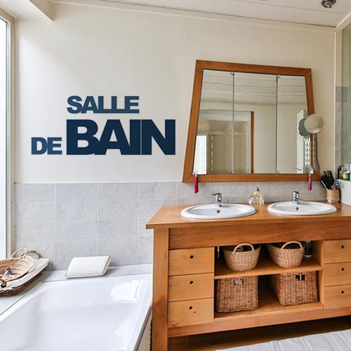 stickers lettres deco pour salle de bain lettres adhesives bleu canard