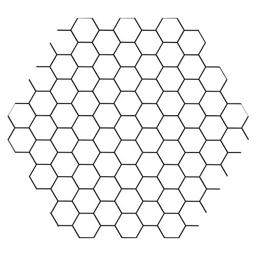 sticker deco hexagone nid d abeille noir et blanc