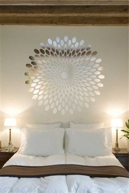 geometric d wall decal reflective mirror decals