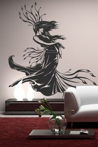 Lady Nature Baroque Wall Decal | WALLTAT