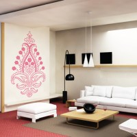 Abstract Floral Wall Decal Sticker