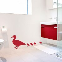 Family of Ducks Wall Decal Sticker