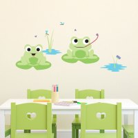Silly Frog Duo - Printed Wall Decals