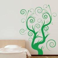 Whimsical Swirl Tree Wall Decal