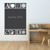 ABC Chalkboard Wall Decal | ABC Wall Sticker | Wallums