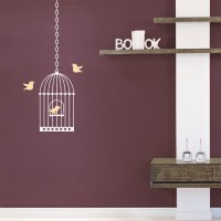 Birdcage Wall Decal | Birdcage Wall Sticker | Wallums