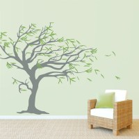 Tree Blowing in the Wind Wall Decal