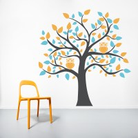 Bright Owl Tree Wall Decal
