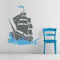 Pirate Ship Wall Art Decal