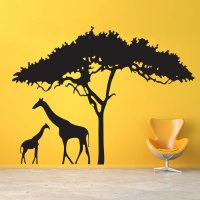 Giraffe Wall Decal | Safari Wall Sticker | Wallums