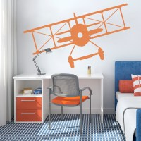 Vintage Airplane Wall Decal   Airplane Wall Sticker   Wallums
