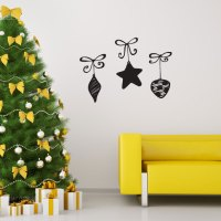 Hanging Ornaments Wall Decal Sticker