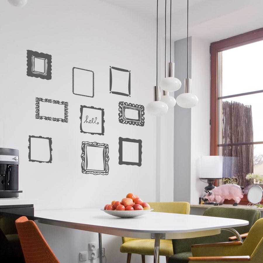 deluxemodern studio frame wall decal set