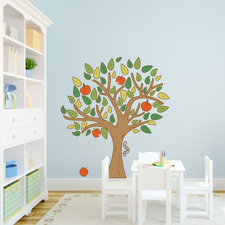 apple tree printed wall decal