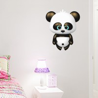 3D Panda Bear Printed Wall Decal
