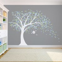 white tree wall decal - Design Decoration