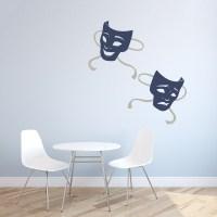 Drama Masks Wall Decal