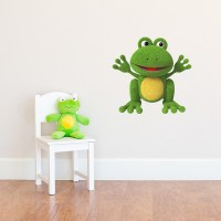 3D Plush Frog Printed Wall Decal