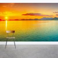 Colorful Ocean Sunset Wall Mural