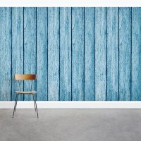 Faux Wood Paneling Wall Mural
