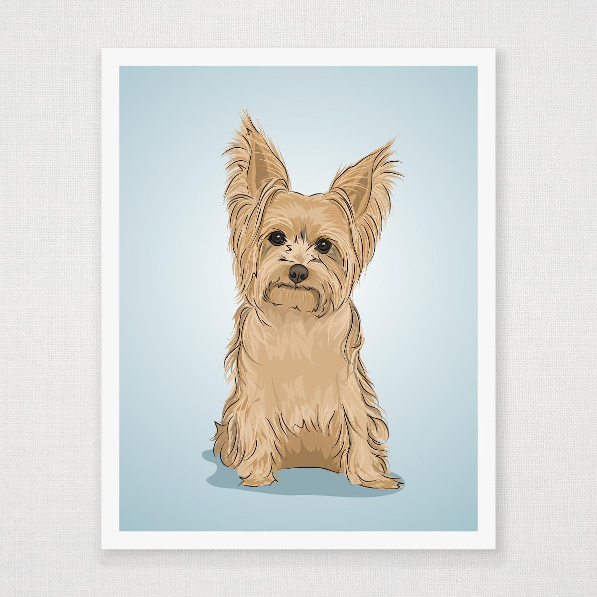 Yorkshire Terrier Art Print