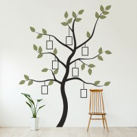 Family Tree Wall Decal with Faux Frames