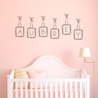 Custom Doodle Letter Name Frames Wall Decal
