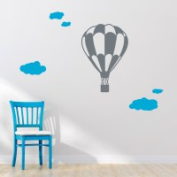 Hot Air Balloon Ride With Clouds Wall Art Decal