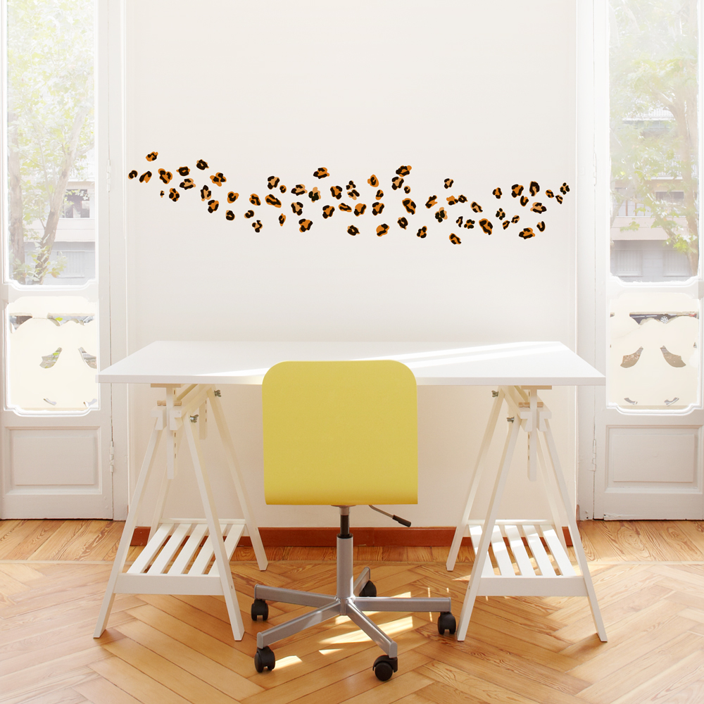 Leopard Spots Printed Wall Decal