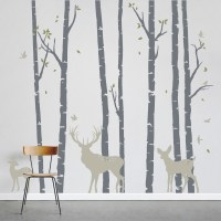 birch tree wall decals 2017 - Grasscloth Wallpaper